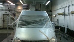 Окраска крыши автомобиля